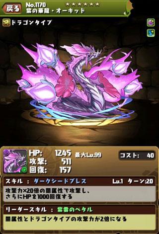 パズドラ 紫の華龍