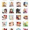 【グラブル】LINEスタンプが新登場!アニメのキャラクターがスタンプになって!