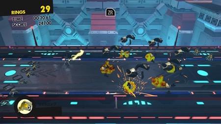 ソニックフォースのゲームプレイ画面