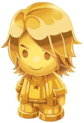 黄金の許斐先生像