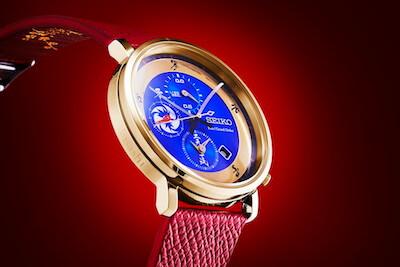 FGO×セイコーコラボ時計宮本武蔵モデルのドアップ