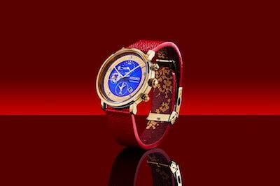 FGO×セイコーコラボ時計宮本武蔵モデルの別角度の全体