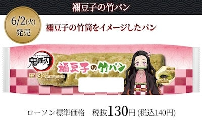禰豆子の竹筒をイメージしたパン