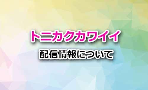 アニメ「トニカクカワイイ」の配信情報について